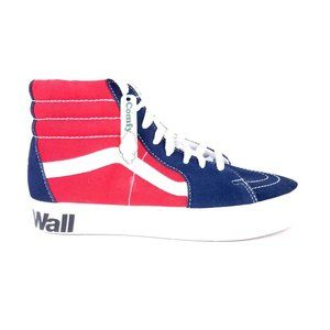 VANS Sk8 Hi ComfyCush Navy/Red Logo Sneakers